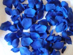 200 Silk Rose Petals ROYAL BLUE 2 Wedding Flower Decorations for tables