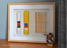 Karate belt display shadow box
