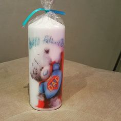 Father's day candle made for my dad  #fathersday #fathersdaygift #handmadegift #handmade #metoyou #tattyteddy #dad #craft #hobbycraft #superhero