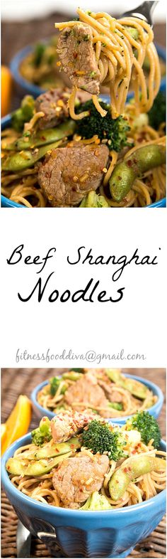 BEEF SHANGHAI NOODLES with broccoli and snap peas will bring the Feng shui around the dinner table tonight! Such a sweet and savory mix of sweet oranges and soy sauce with a flare of heat from the red pepper flakes infused into the beef.  Every bite of these Beef Shanghai Noodles make a delicious Asian cuisine.