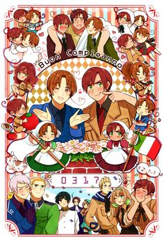 Tags: Axis Powers: Hetalia, Japan, Prussia, North Italy, Germany, South Italy, Rome, Belgium, Netherlands, Holy Roman Empire, Axis Power Cou...