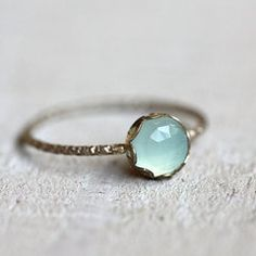 Blue chalcedony gemstone ring.. Pretty!
