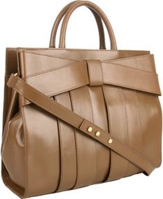 Z Spoke By Zac Posen Shirley Bow Satchel in Brown (k)