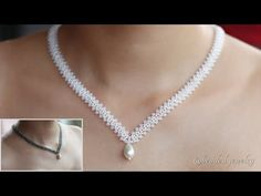 Beautiful and delicate necklace. Easy to make beaded jewelry for beginners - YouTube