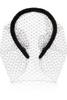 Jennifer Behr Grosgrain and net headband   NET-A-PORTER