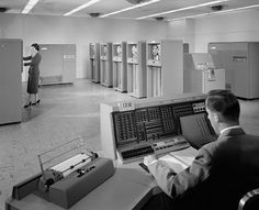 First IBM computer, the IBM 702 Mainframe; 1955