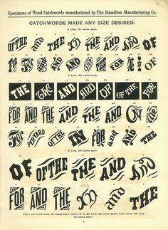 goodjolt:  Hamilton Wood Type Catalog #14 / 1899–1900