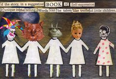 A Child's Truth -2D collage by Dianne Hoffman