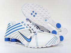 Nike Shox El4 Men White Blue Shoes