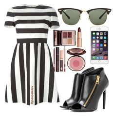 """""""Untitled #166"""" by joanperezxv on Polyvore featuring Valentino, Tom Ford, Ray-Ban and Charlotte Tilbury"""