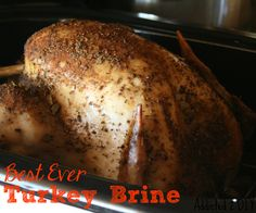 Best Ever Turkey Brine 2 gallons of water 1 cups kosher salt 3 tbsp minced garlic 1 tbs ground black pepper cup Worcestershire sauce cup brown sugar (Best Ever Thanksgiving) Thanksgiving Recipes, Fall Recipes, Holiday Recipes, Great Recipes, Favorite Recipes, Thanksgiving 2013, Holiday Meals, Yummy Recipes, Christmas Recipes