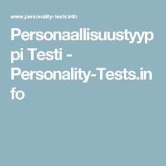 Personaallisuustyyppi Testi - Personality-Tests.info
