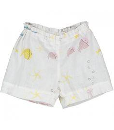 Pantalon corto verano, algodón organico, moda eco on line niña