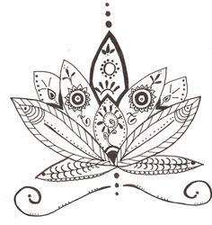 flor de loto para honrar el cumpleaños de la mejor profe de tribal :D