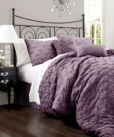 Purple Lake Como Comforter Set  @Laine Marrs  idk why but this reminded me of something you would have