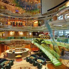The Centrum of our ship, Serenade of the Seas (even more beautiful at night!)...
