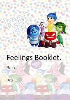 Inside Out Feelings Book. I'm looking forward to shifting toward feeling more like I'll be heard. I still have struggle that you are not going to hear me. Stress can kill you! Feelings Book, Feelings And Emotions, Counseling Activities, Therapy Activities, Emotions Activities, Teaching Emotions, Coping Skills, Social Skills, Inside Out Emotions