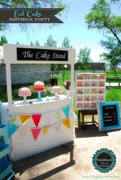 Eat Cake Birthday Party - The Cake Stand... A Birthday Party Recap!