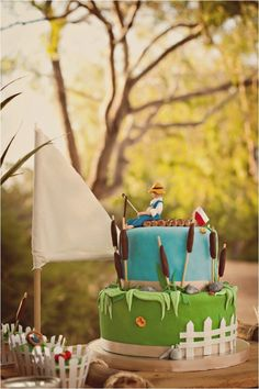 Caught the big one birthday on pinterest fishing gone for First birthday fishing theme