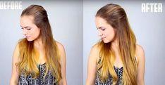 So kannst du die ungewünschte Stirnglatze verbergen- before & after