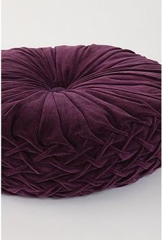 a purple pouf