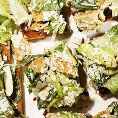 Chicken Caesar Salad Pizza #recipe