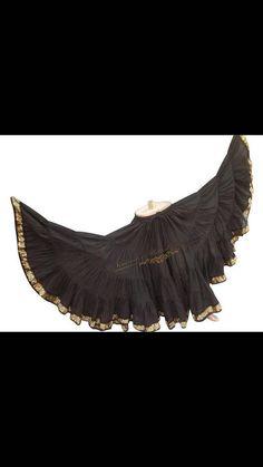 Bellydance Tribal Aishwarya skirt with gold by SenoritasDesigns