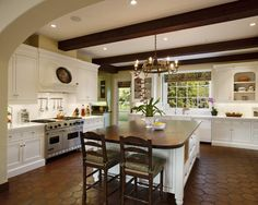 Mediterranean Kitchen Spanish Tile Design, Pictures, Remodel, Decor and Ideas - page 3