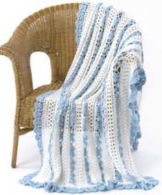 This lace crochet pattern has a beautiful eyelet appearance. | AllFreeCrochetAfghanPatterns.com