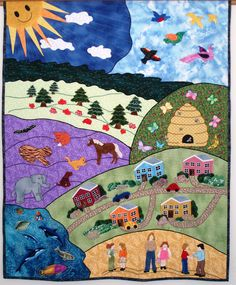 Old Dame Counterpane | Story Book Quilts