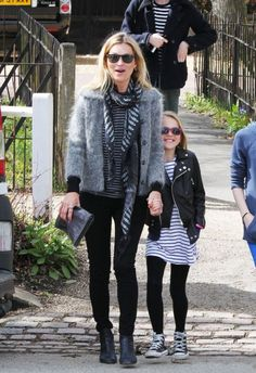 Kate Moss Mommy & daughter style