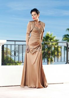 Mother of The Bride Dresses-Satin Lace Chiffon Wide Shoulder Sweetheart Neckline Straps