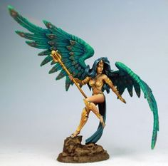 Thief of Hearts #6 - Sorceress from Dark Sword Miniatures, painted by Marike Reimer