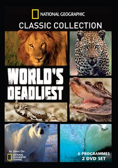 The World's Deadliest collection is released on Oct 7th, ft Planet Carnivore: Lions, Tiger Sharks, Stalking Leopards, Ice Bear, Thunder Dragons & more classic Nat Geo programming. #NatGeoDVD