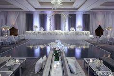 A Stunning All White Wedding At The Ritz Carlton Toronto - Wedding Decor Toronto Rachel A. Purple And Silver Wedding, All White Wedding, Luxury Wedding, Dream Wedding, Bling Wedding, Wedding Bells, Wedding Gifts, Salas Lounge, Wedding Venues Toronto