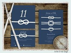 tie the knot save the date printable file by idoityourself. $17.00 USD, via Etsy.