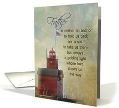 Father s Day-Big Red lighthouse with grungy texture overlay card by Maria  Dryfhout Father s Day de9fd38390b7