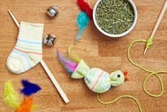 Make these fun cat toys from scratch! The kids will love to help craft them, and your feline friend will jump at the chance for playtime with a new toy. For more ideas for your pet, visit P&G everyday today!