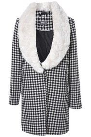 Apricot Houndstooth Faux Fur Collar Coat http://www.apricotonline.co.uk/mall/productpage.cfm/womensclothing/_5051839148741/-/Hounds-Tooth-Faux-Fur-Collar-Coat