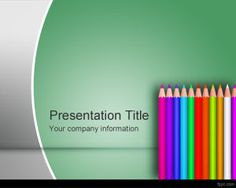 Free colored pencil PowerPoint templates for e-learning and school