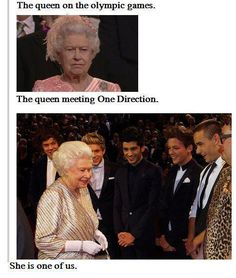 even the queen loves one direction. Four One Direction, One Direction Images, One Direction Quotes, Really Funny Memes, Stupid Funny Memes, Funny Relatable Memes, Thing 1, First Love, My Love