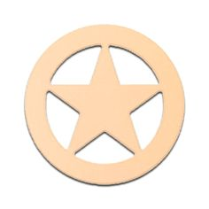 18' Texas Star Sheriff Badge Unfinished DIY Wooden Craft Cutout to Sell Stacked ** You can find out more details at the link of the image.
