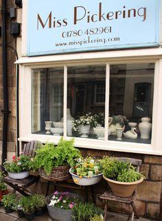 Shopfront at Miss Pickering flowers, Stamford, England
