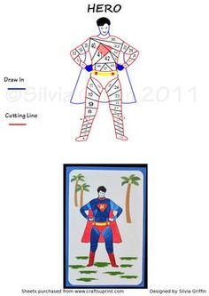 Hero on Craftsuprint designed by Silvia Griffin - A lookalike of a well know hero which hopefully your grand children will love. - Now available for download!