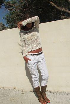 Derechos de diseño pertenecen a iLE AiYE de mayo de 2012 por favor se respetuoso Verano/primavera está afectando el funcionamiento del camino, y para continuar con la temporada de cambia, un suéter de punto flojo de algodón es simplemente cuál es necesitada. Estoy aquí para ayudar. Este 14%