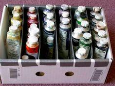 Handy dandy paint tube organizer - WetCanvas... Cheap paint organizer..