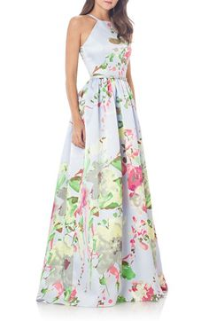 Free shipping and returns on Carmen Marc Valvo Infusion Mikado Ballgown at Nordstrom.com. Flickering crystal highlights the well-defined waist of this silky ballgown abloom with refreshing watercolors.