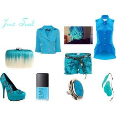 Just Teal, created by fashionistaxtina on Polyvore
