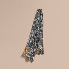 British seaside print cotton scarf by Burberry