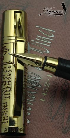 Aurora Leonardo Da Vinci by aileen Stylo Art, Graf Von Faber Castell, Vintage Pens, Luxury Pens, Fine Pens, Best Pens, Calligraphy Pens, Writing Pens, Dip Pen